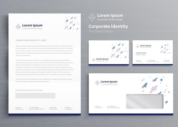 Classic business stationery corporate identity Premium Vector