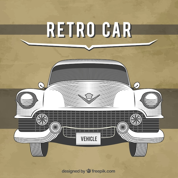 Classic Cadillac Drawing Free Vector