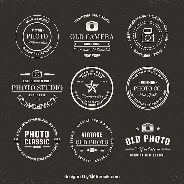 Classic camera logo collection