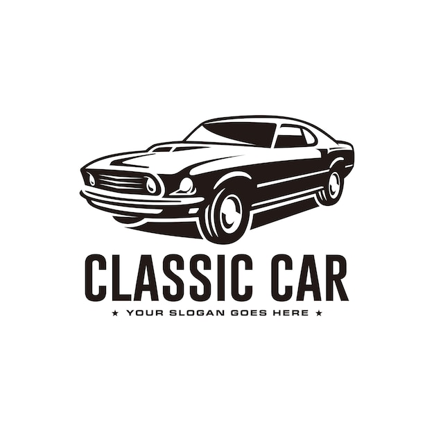 Classic car logo template Premium Vector