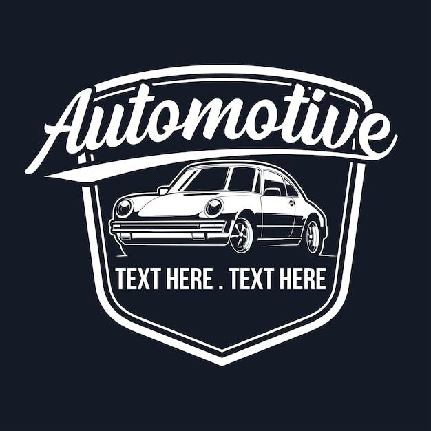 Classic car logo Premium Vector