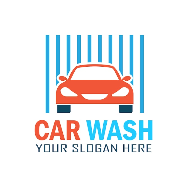 Classic car wash logo Premium Vector