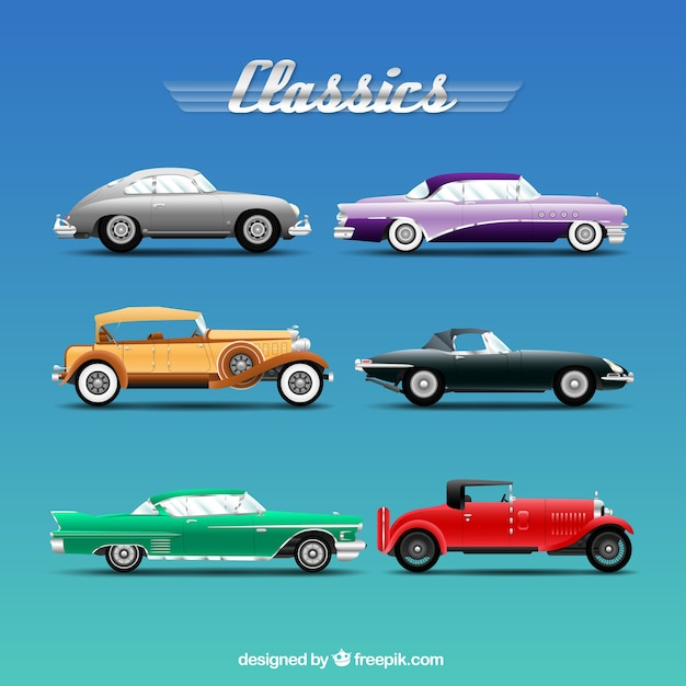 Classic cars Free Vector