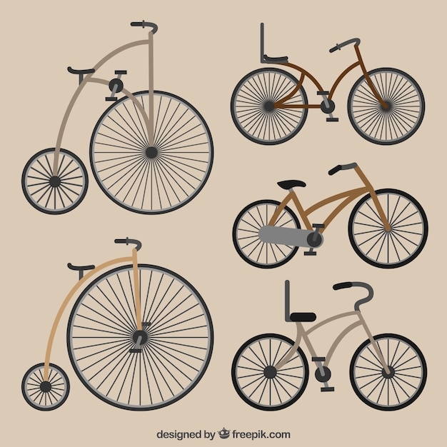 Classic collection of retro bicycles