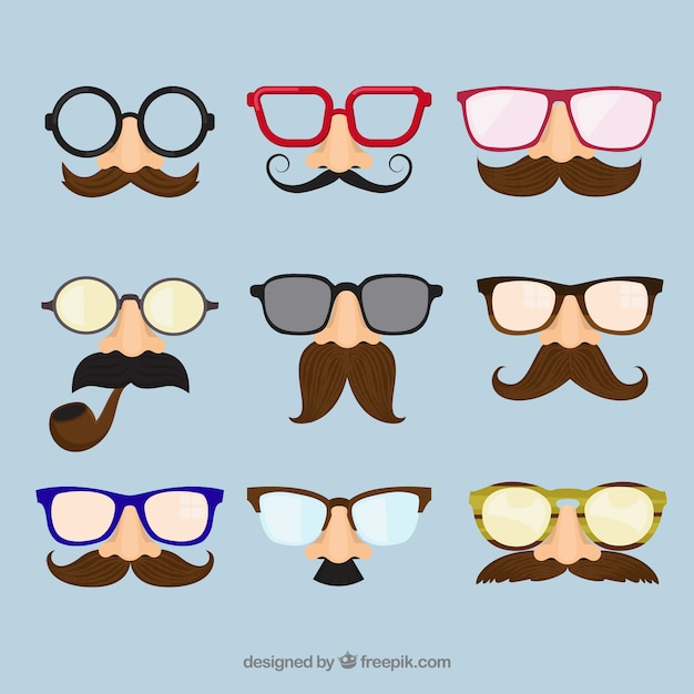 Classic disguise masks Free Vector