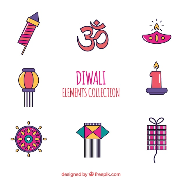 Classic diwali elements collection