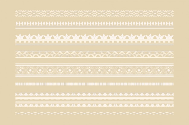 Classic ethnic borders and page decoration set Free Vector