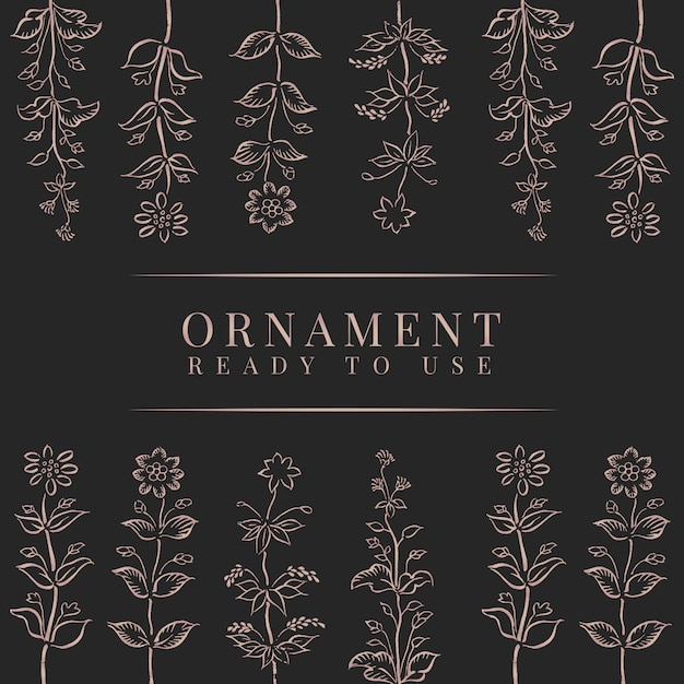 Classic floral ornament frame Free Vector