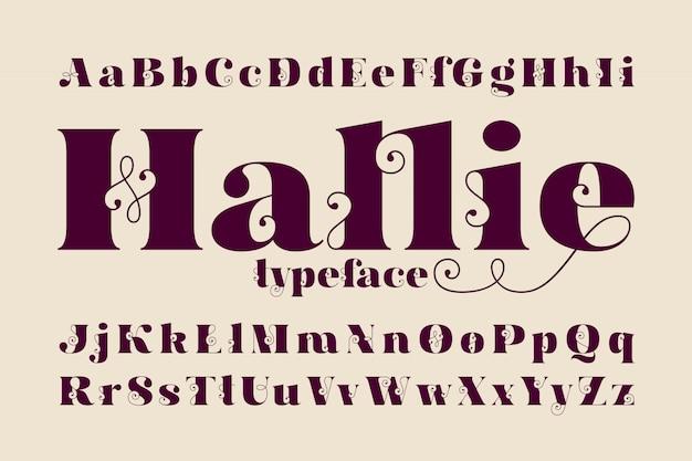 클래식 글꼴 세트 무료 벡터