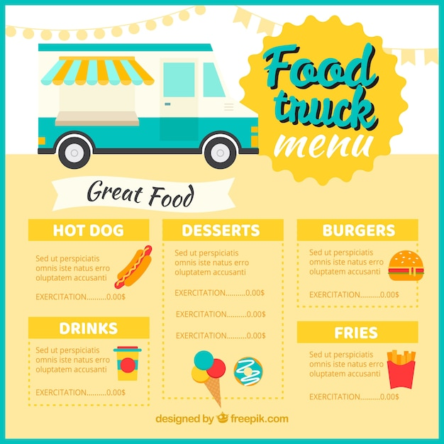 Classic food truck menu template vector free download classic food truck menu template free vector pronofoot35fo Images
