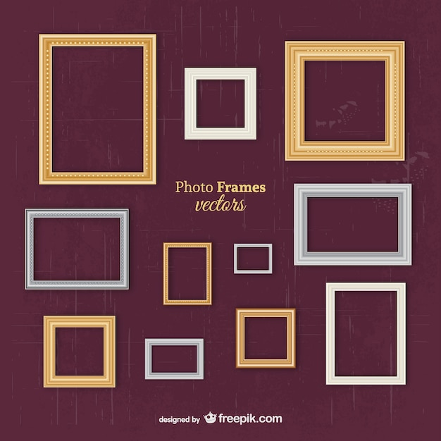 Classic frames Free Vector