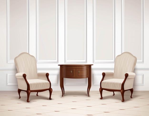 Classic Interior Design Vector | Free Download