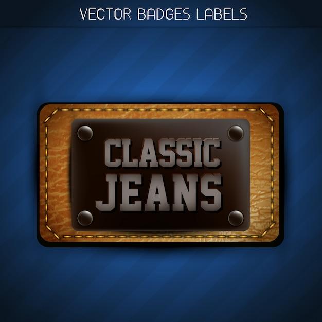 Classic jeans label Premium Vector