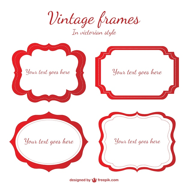 classic label frames free vector