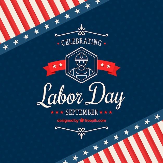 Classic labor day celebration composition Free Vector