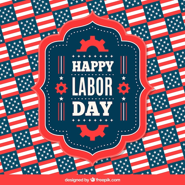 Classic labor day celebration composition Free Vector