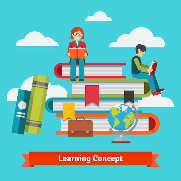 Classic learning, education and school concept Free Vector