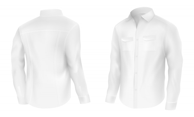 Classic mens white shirt Free Vector