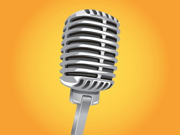 Classic microphone voice technology\ vector