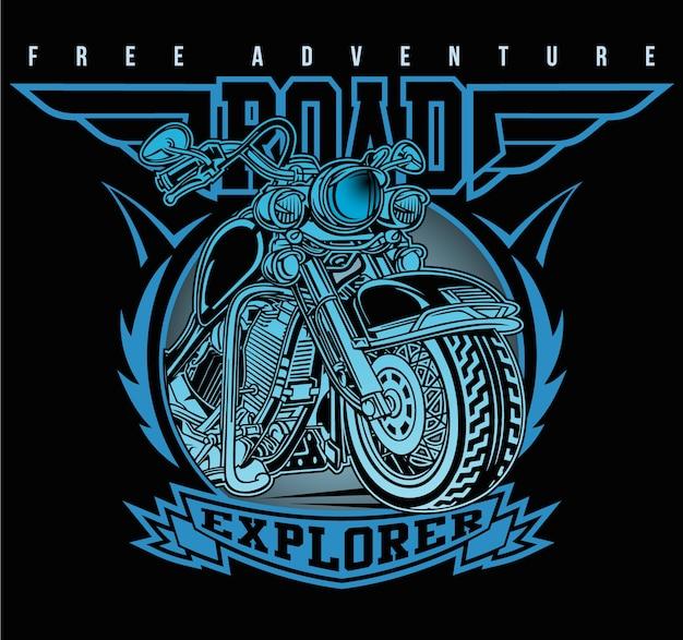 Classic motorbike road club Premium Vector