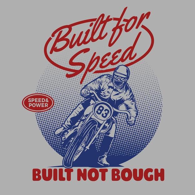 Classic motorcycle racer Premium Vector