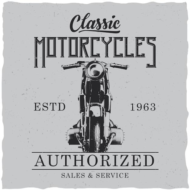 Poster di motociclette classiche Vettore gratuito