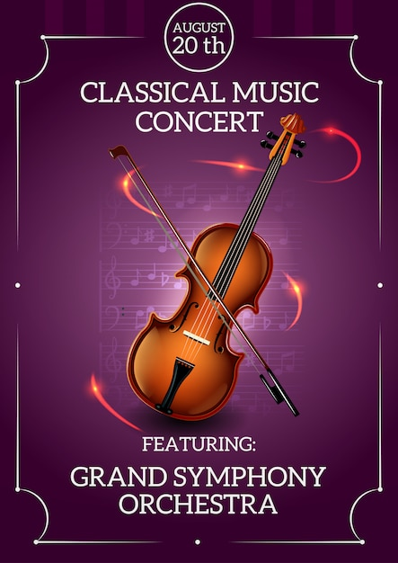 Classic music poster Free Vector