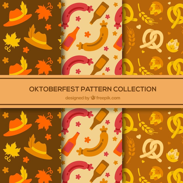 Classic oktoberfest pattern collection