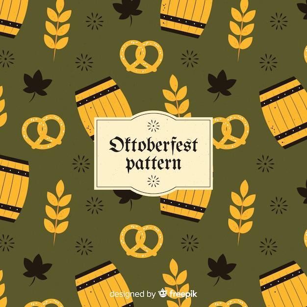 Classic oktoberfest pattern with flat design Free Vector