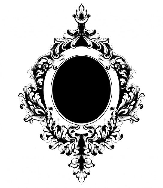 Classic ornamented frame Premium Vector