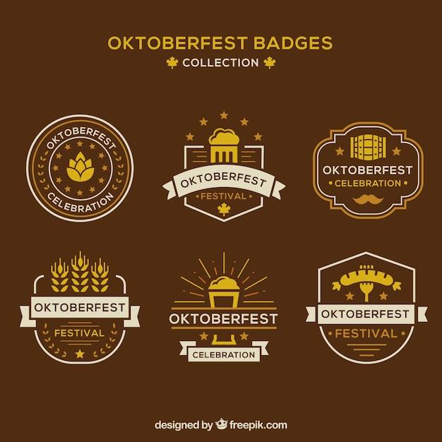 Classic pack of oktoberfest badges
