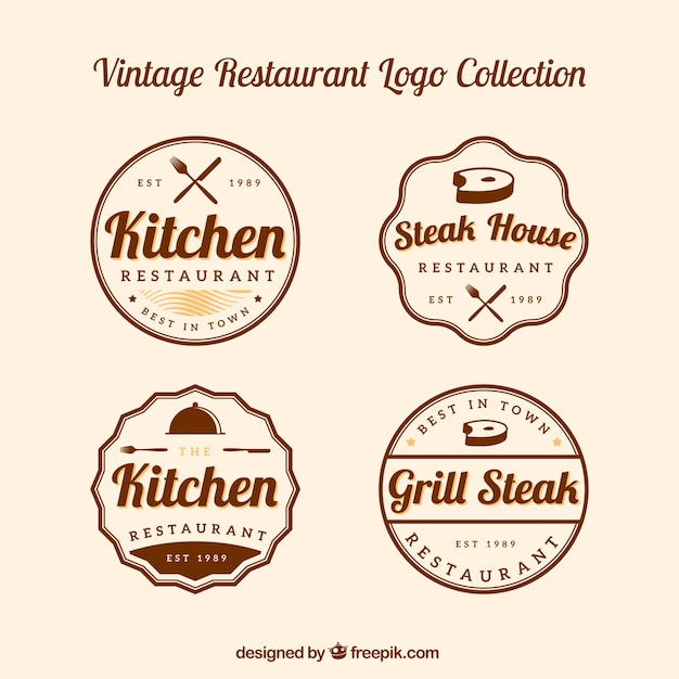 Classic pack of retro restaurant logos