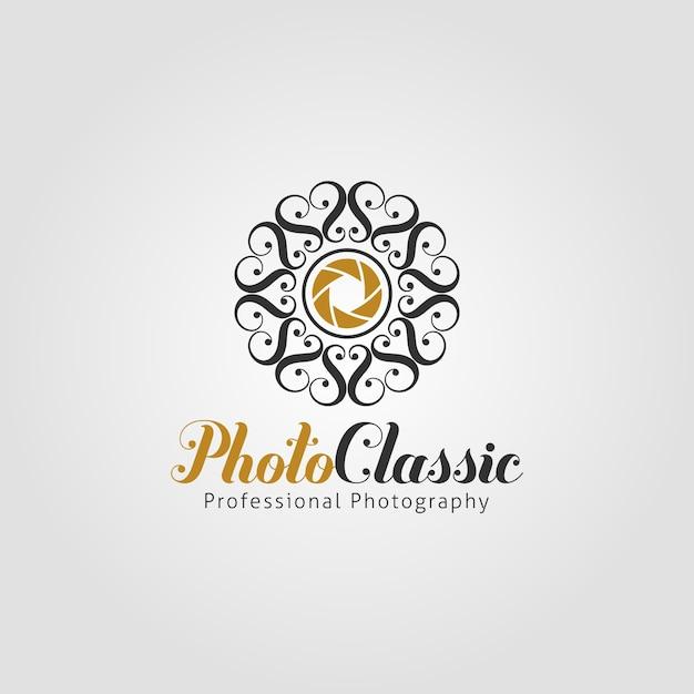 Classic photography logo template Premium Vector