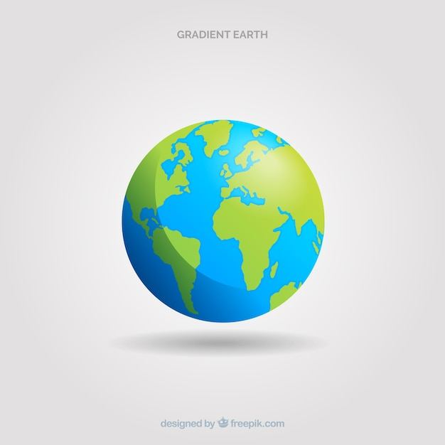 Classic planet earth with gradient style Free Vector