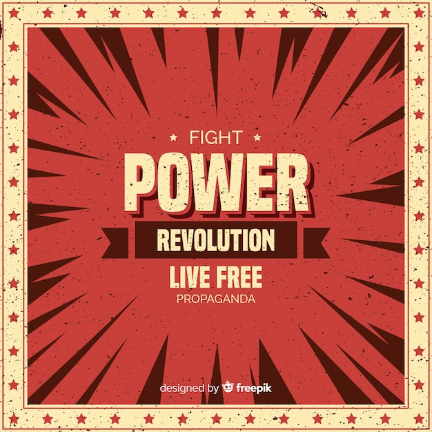 Classic revolution composition with grunge style Free Vector