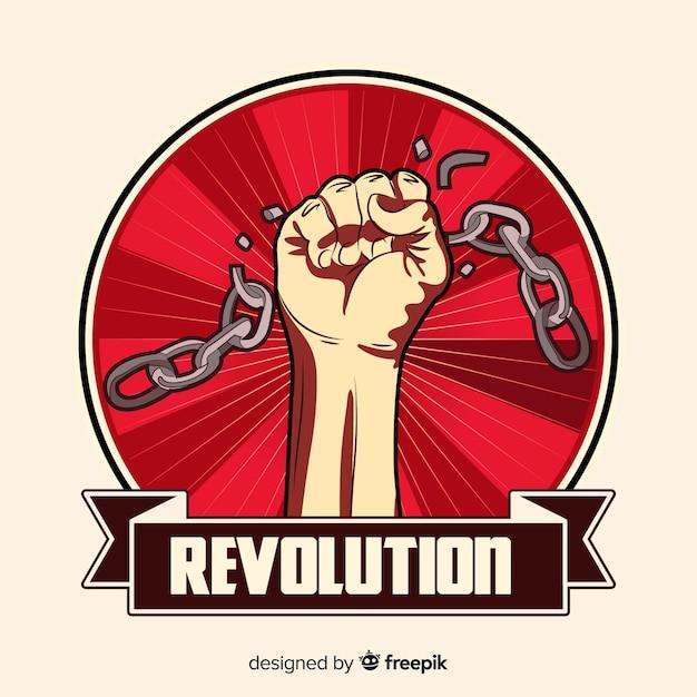 Classic revolution composition Free Vector