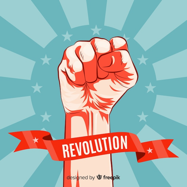 Classic revolution concept with vintage style Free Vector