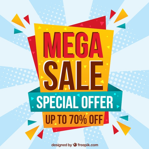Classic sale composition with fun style Free Vector