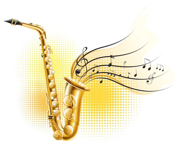 classic saxophone with music notes vector free download saxophone clip art dots saxophone clip art free