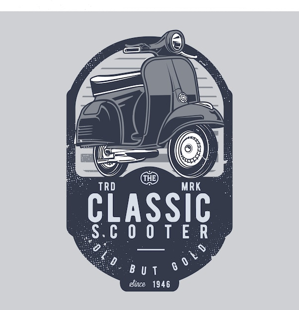 Classic scooter Premium Vector