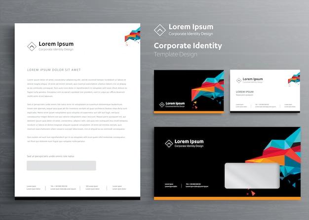 Classic stationery business corporate identity template design Premium Vector