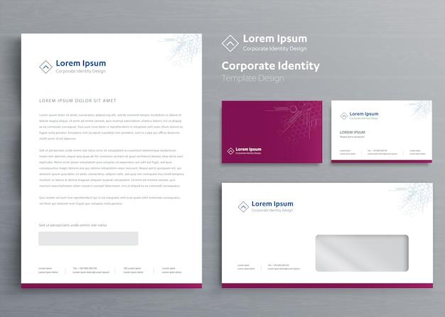 Classic stationery business corporate identity Premium Vector