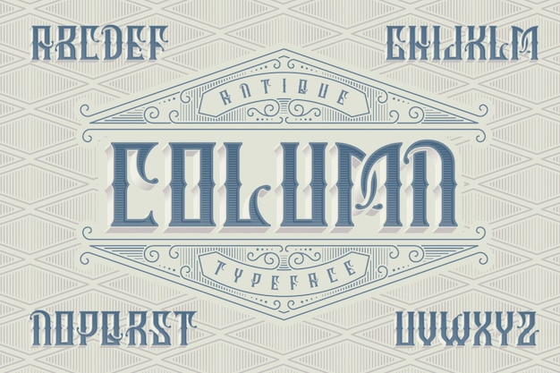 Set di caratteri in stile classico con ornamenti vintage Vettore gratuito