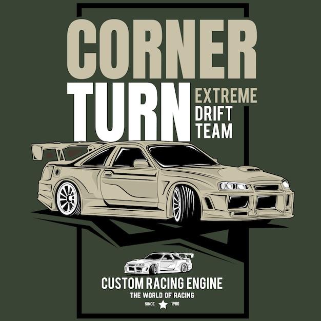 Classic super fast, poster of a sports classic car Premium Vector