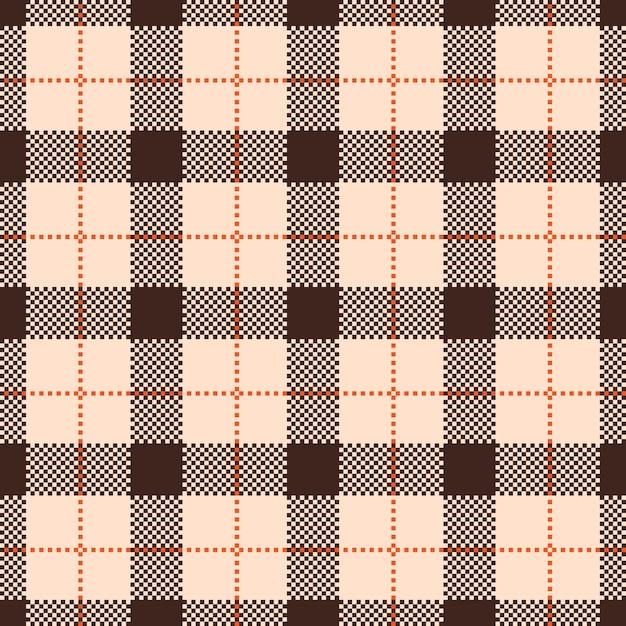 Classic tartan and buffalo check plaid seamless patterns Premium Vector