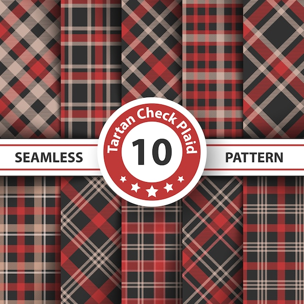 Classic tartan pattern Premium Vector