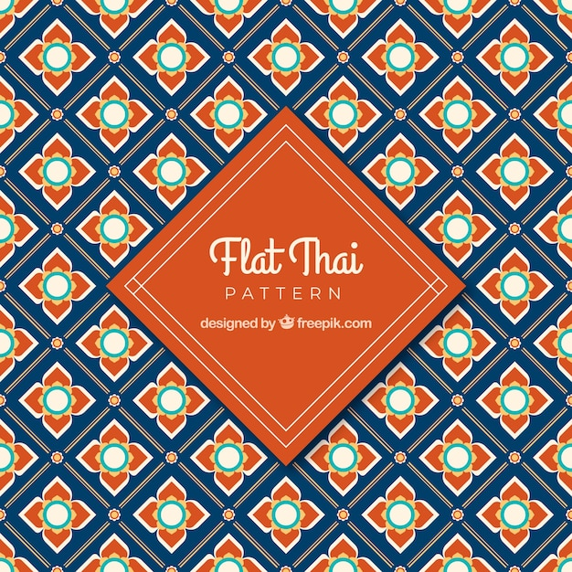 Classic thai pattern with flat design Free Vector