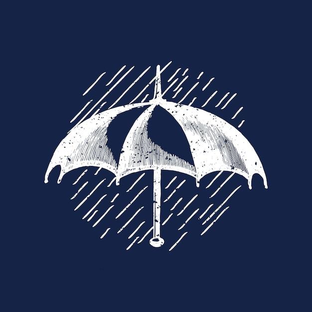 Classic umbrella logo illustration Free Vector