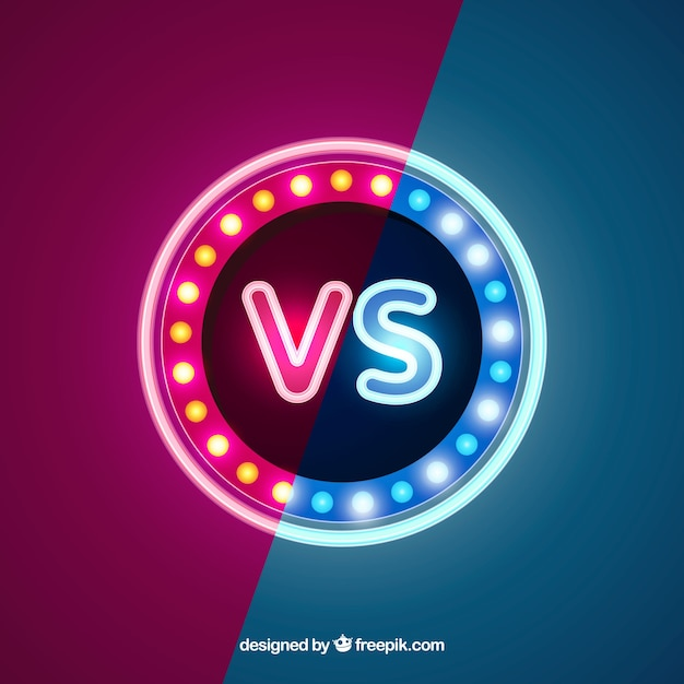 Classic versus background with neon lights
