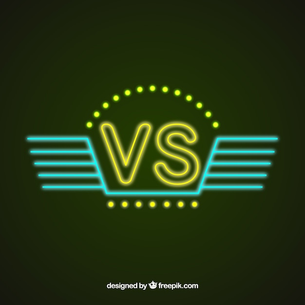 Classic versus background with neon style